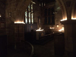 church and candles 1
