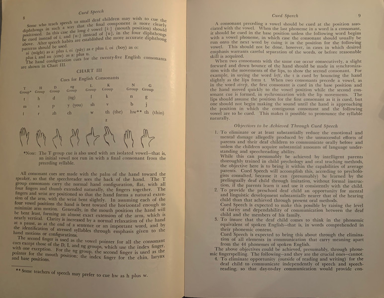P. 8-9 Original Article on Cued Speech