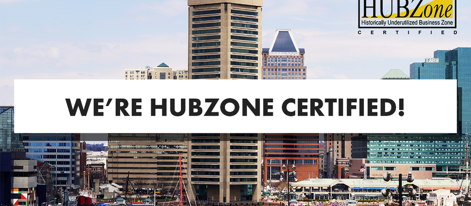 We are HUBZone Certified!