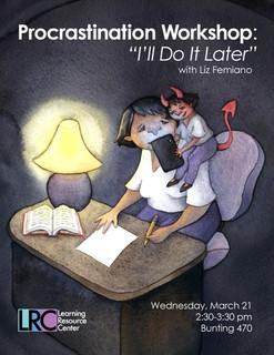Flyer for Procrastination Workshop, 2018