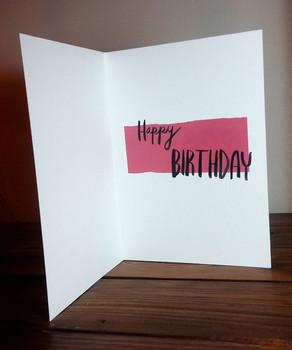 Birthday Card interior, 2015