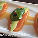 smoked salmon sashimi appetizer