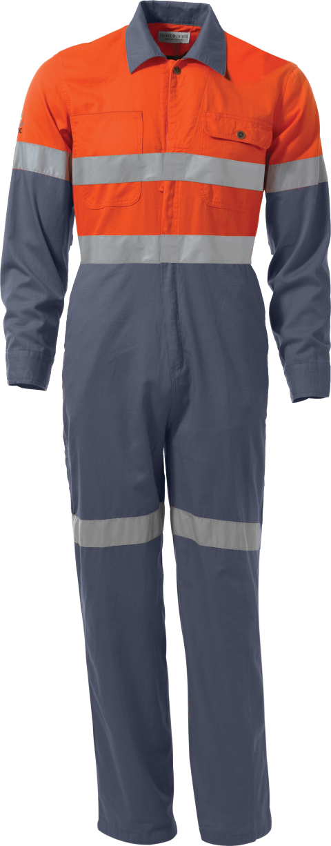 Two-Tone Lightweight Coverall Hi-Vis