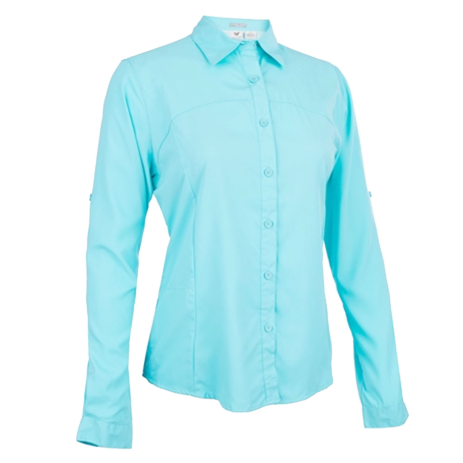 Women's White Sierra Gobi LS Shirt