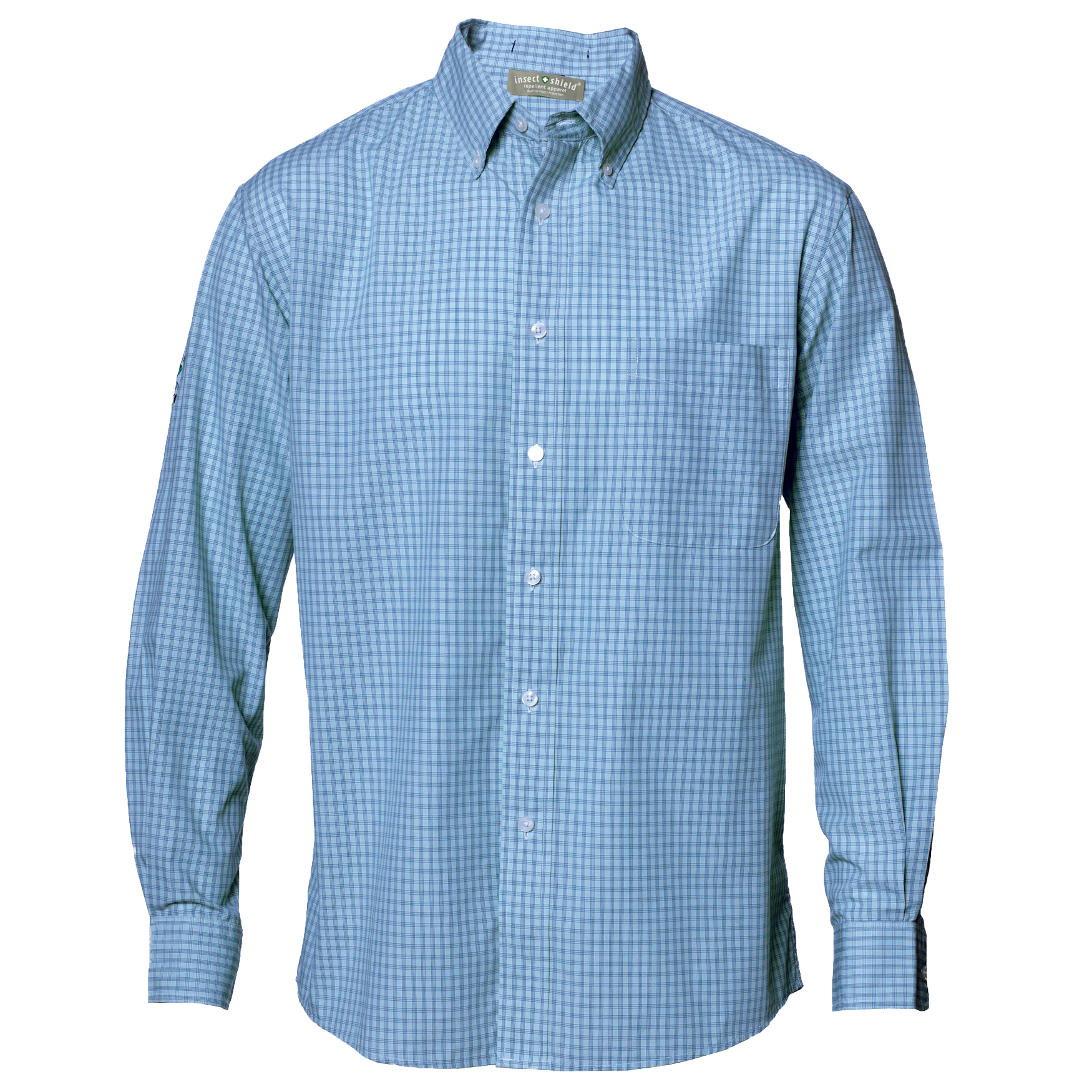 Mini-Plaid Wrinkle Resistant Shirt