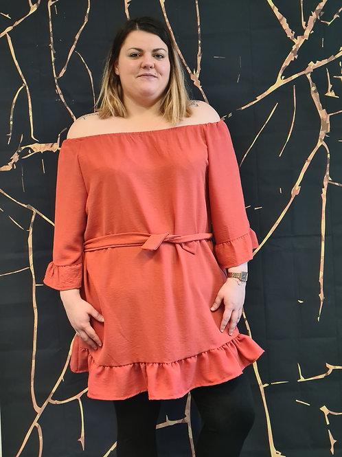 Tunique robe. Belle en XL la mode grande taille.