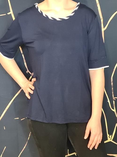 T-Shirt col torsadé. Belle en Xl - Spécialiste de la mode grande taille.