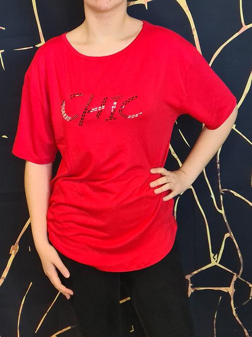 T-Shirt Chic. Belle en Xl - Spécialiste de la mode grande taille.