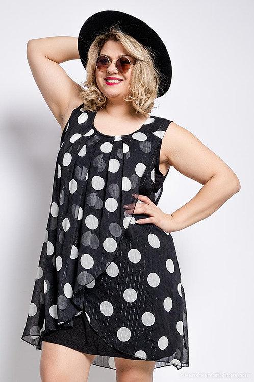Tunique robe sans manche. Belle en Xl - Spécialiste de la mode grande taille.