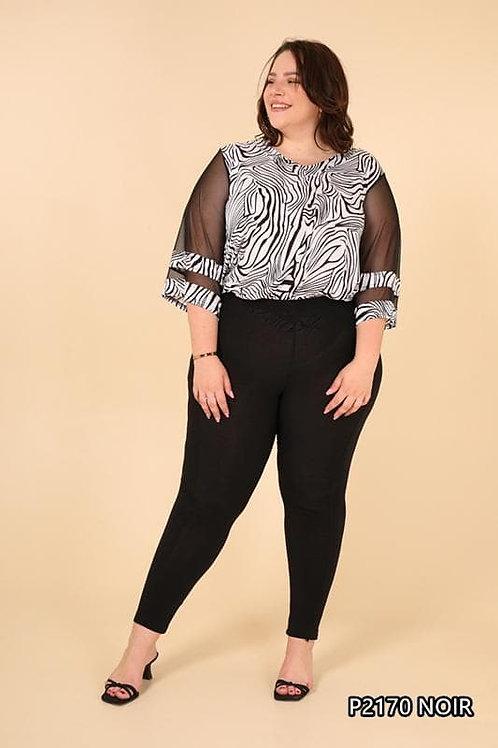 Legging noir grande taille - Belle en XL.