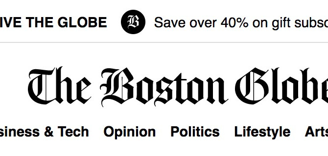 We're in the Boston Globe!