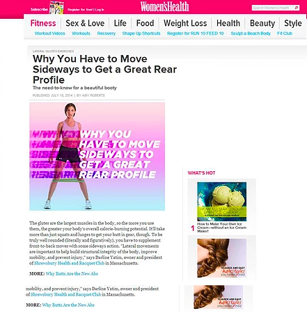 Shrewsbury Club in Women's Health