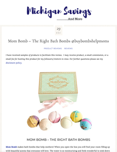 Mom Bomb Review by Michigan Savings and More