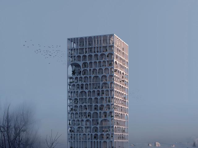 "Concept ""arc tower"""