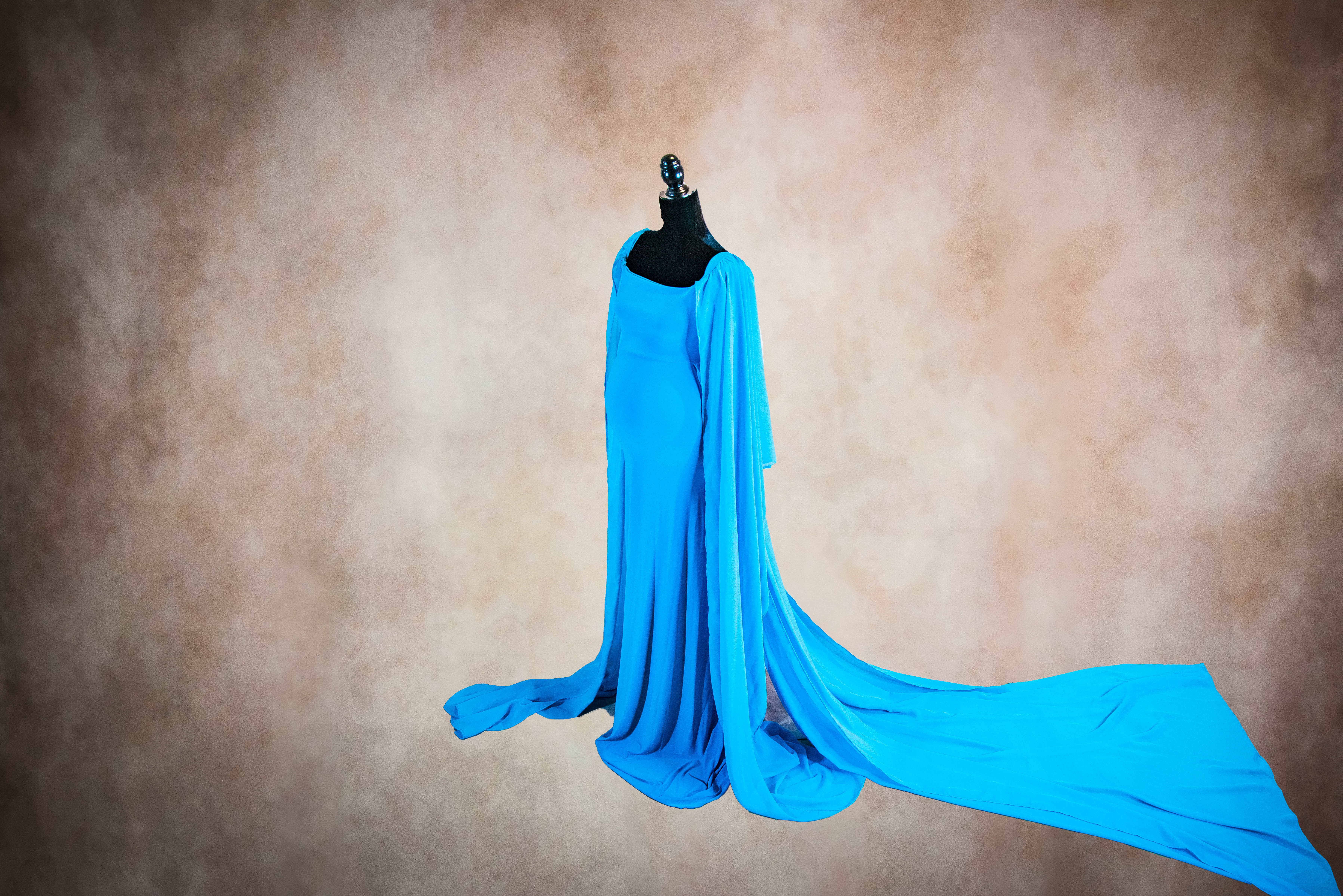 Turquoise Boho Maternity Gown