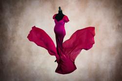 Burgundy Monroe Maternity Gown