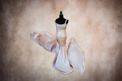Champagne Marilyn Maternity Gown