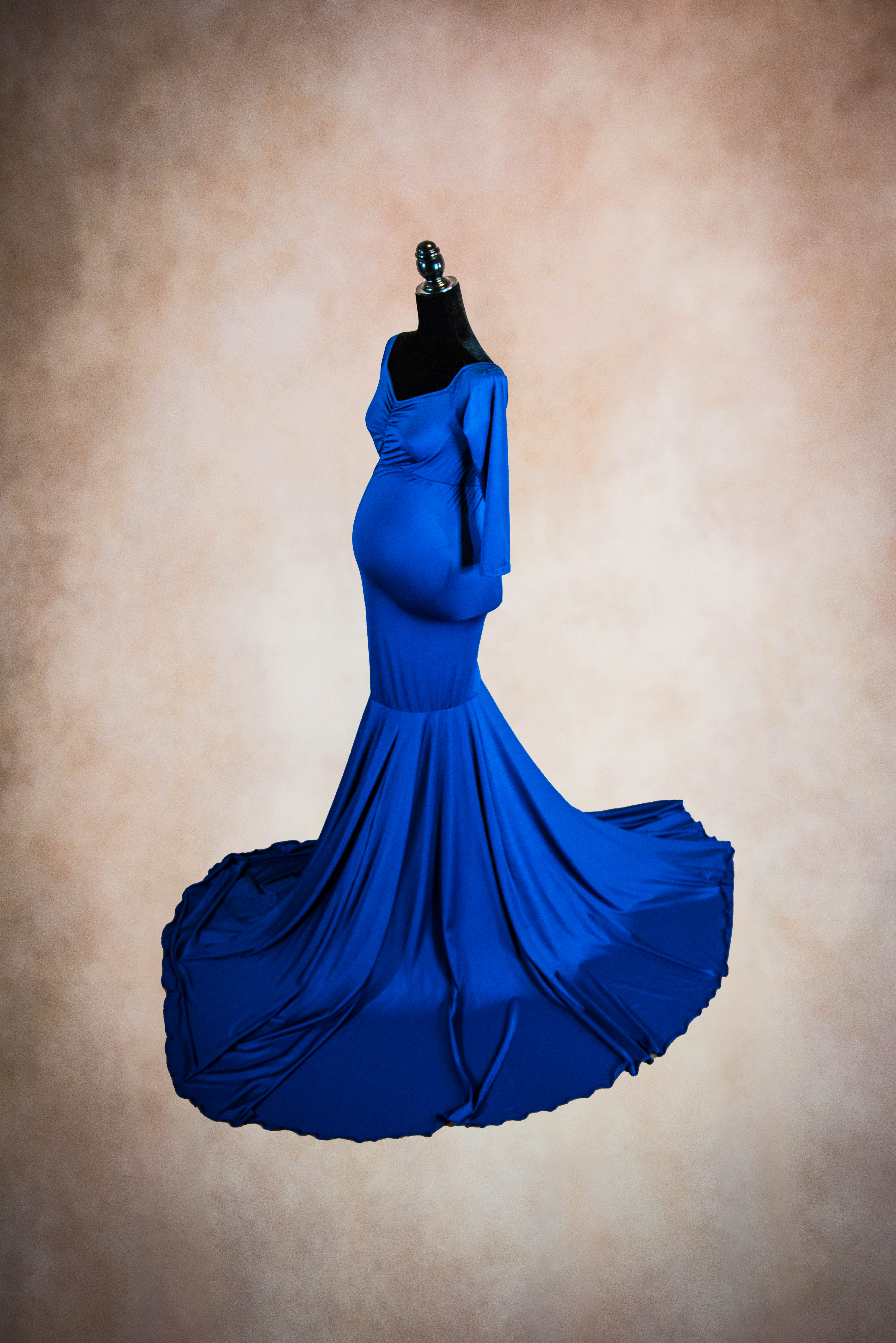 Royal Blue Convertible Maternity Gown