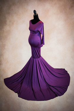 Grape Maternity Convertible Gown