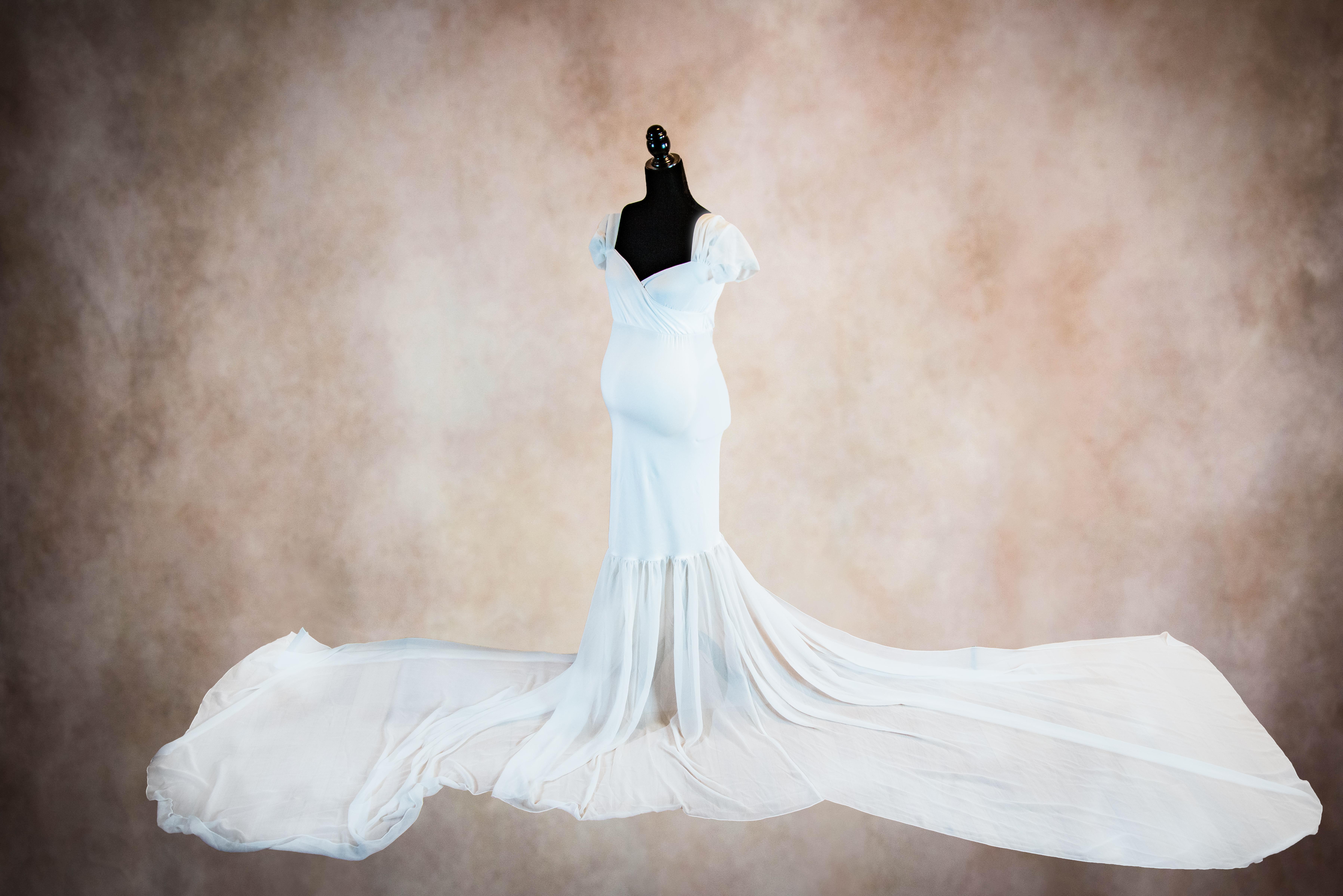 White Athena Maternity Gown