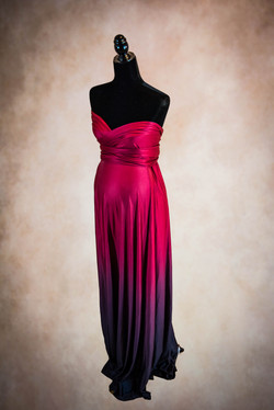 Eternity Red Black Ombre Maternity Gown