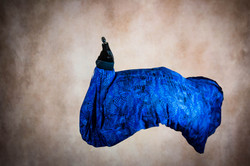 Royal Blue Print Maternity Gown