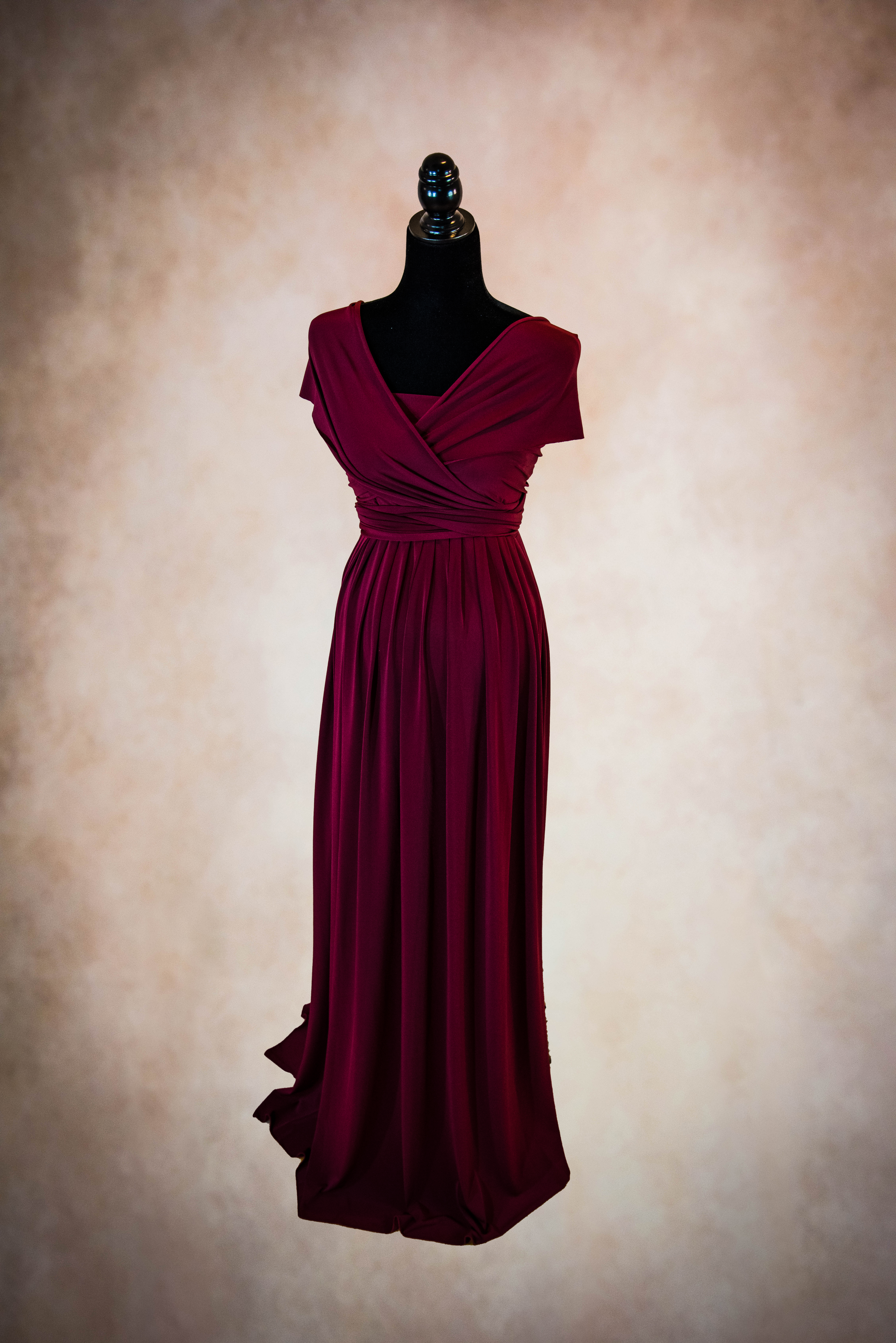 Burgundy Maternity Gown