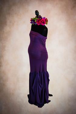 amethyst Mermaid maternity gown