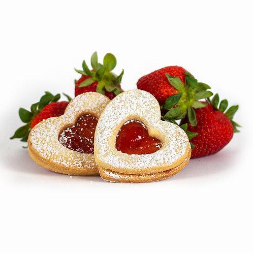 Strawberry Occhi Di Bue - 18 cookies