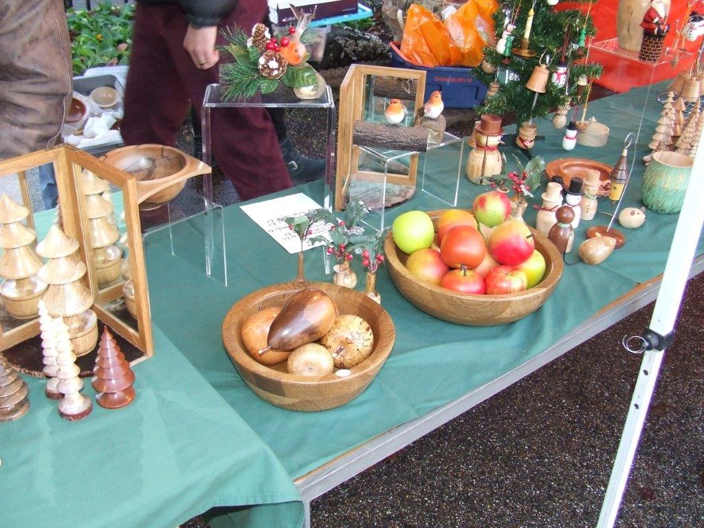 Colchester Woodturners Xmas stall