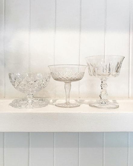 Vintage footed dessert bowls
