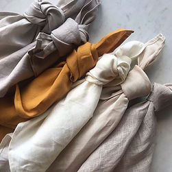 Linen linen everywhere. All these colour