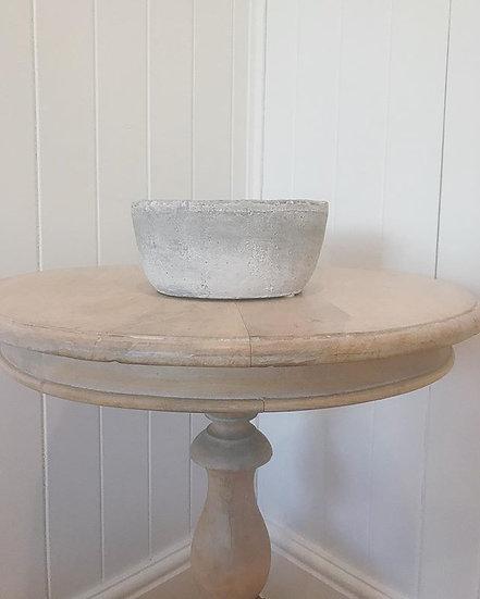 Round Cement Vase