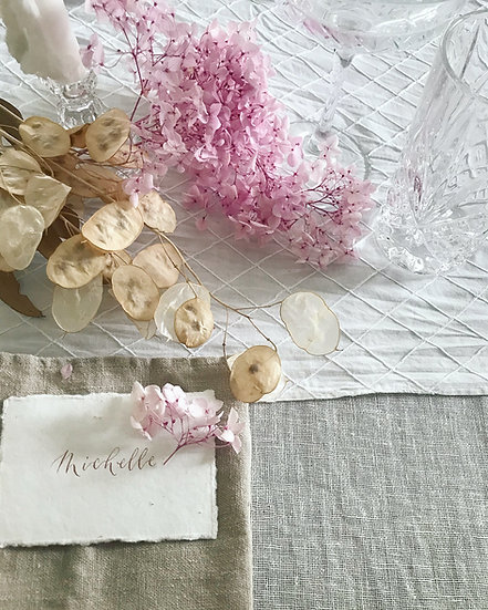 Embroidered Cotton Table Runner - 0.25 x 2.5m
