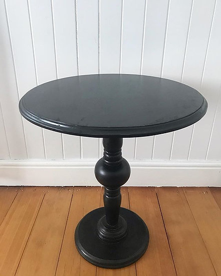 French Black Side Table