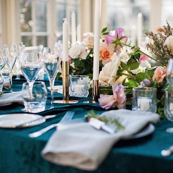 Emerald Green Velvet Tablecloth 3mx3m