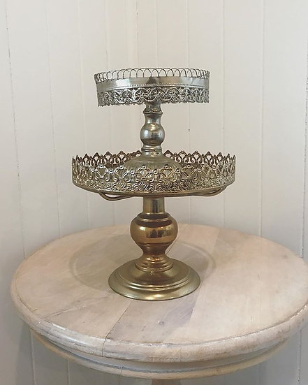 Gold Cake Stand Small