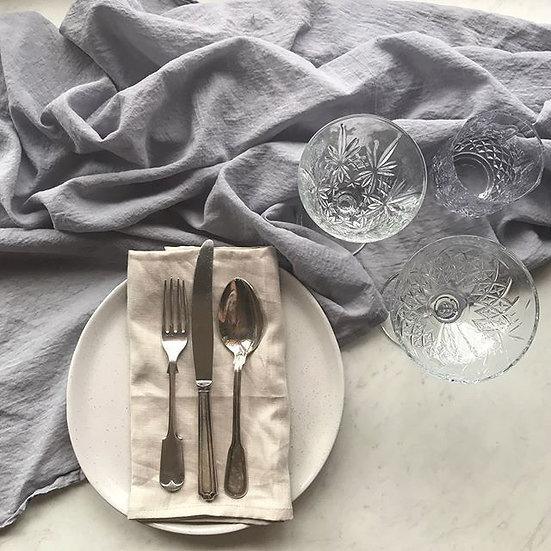 Open Weave Soft Grey Table Runner 1.3m Width x 2.5m Long