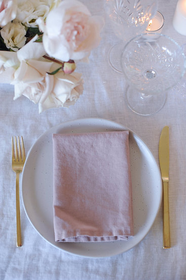 Blush French Linen Napkins