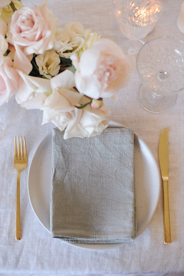 Dove Grey French Linen Napkin