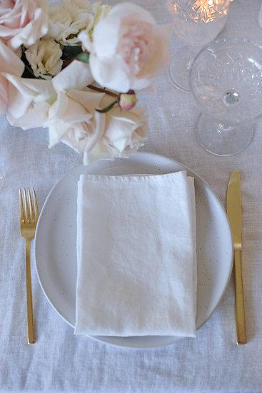 White French Linen Napkin