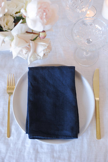 Ink French Linen Napkin