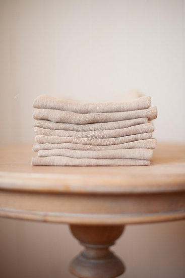 Open Weave Natural French Linen Napkin
