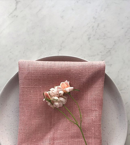 Wildflower Pink French Linen Napkin