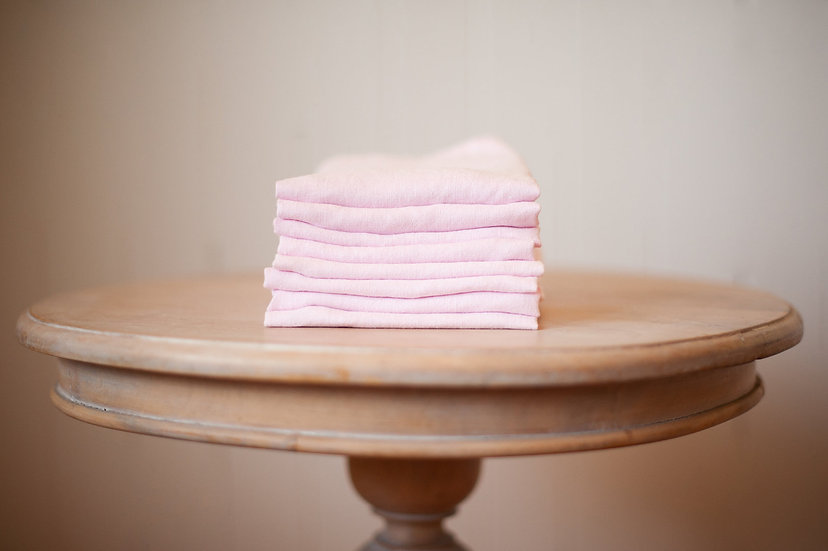 Soft Pink Linen Napkins