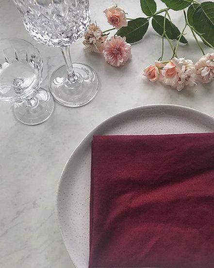 Burgundy French Linen Napkin