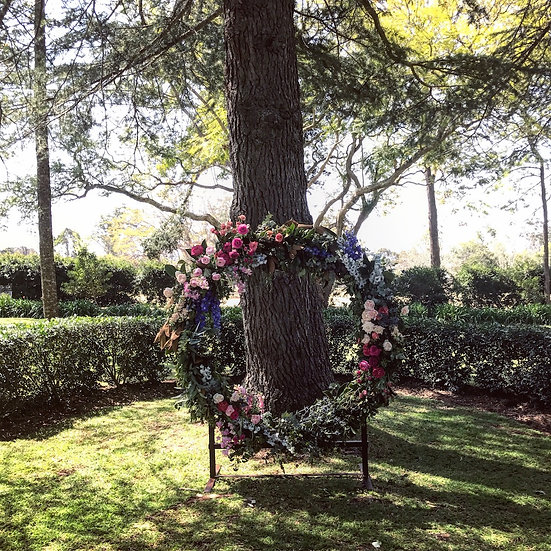 Wreath Arbour - Metal Structure and Stand
