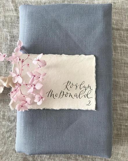 Dusty Blue Linen Napkin