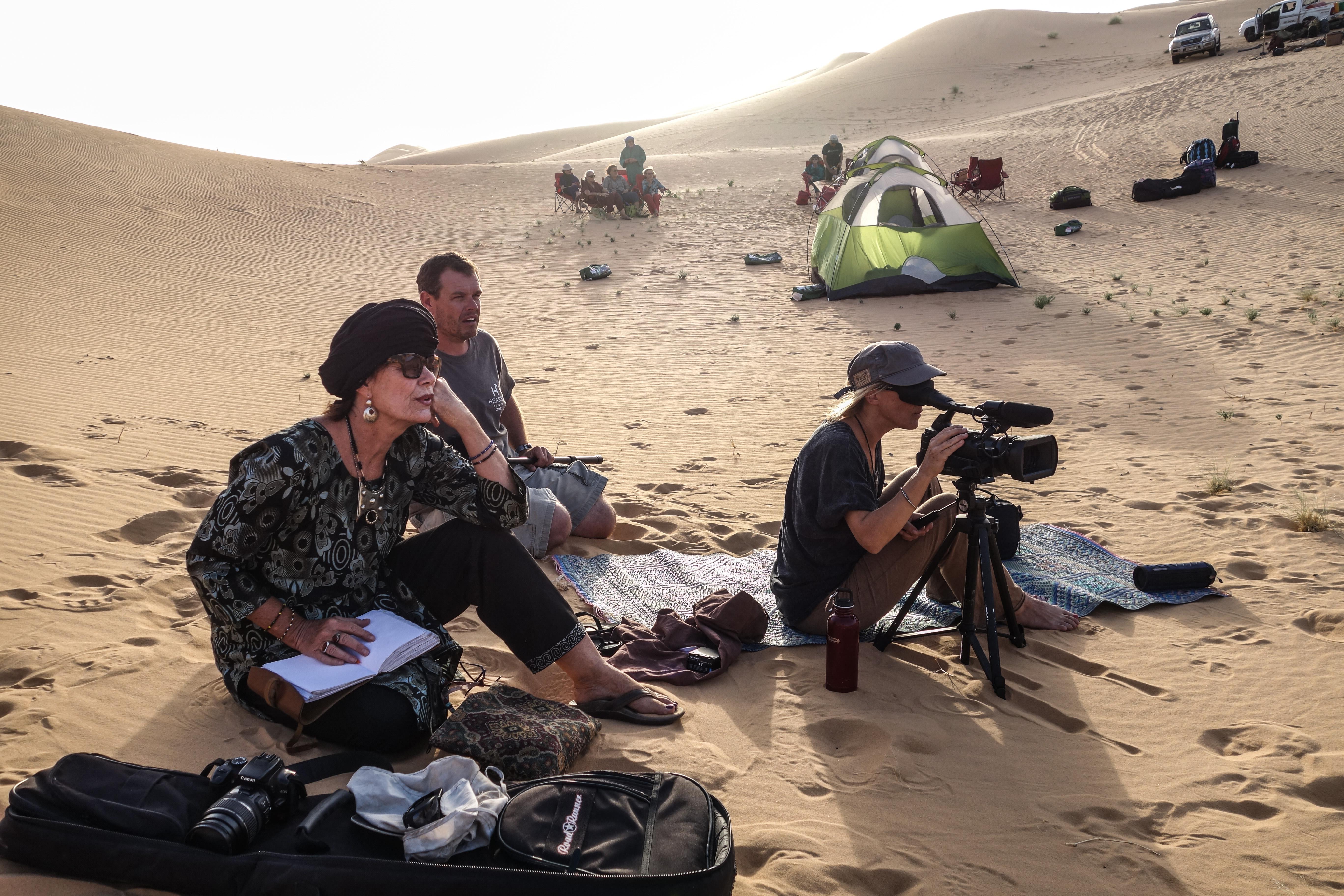 Filming in Niger