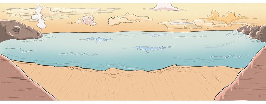 Beach Scene - sleepy dragon